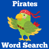 Pirate Word Search | Pirate Worksheet | Pirate Activity