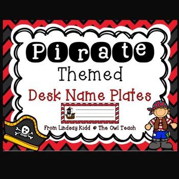 Pirates Classroom Theme :  Pirates Desk Name Plates