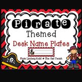 Pirates Classroom Theme :  Pirates Desk Name Plates