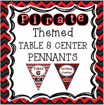 Pirates Classroom Theme - Table and Center Signs
