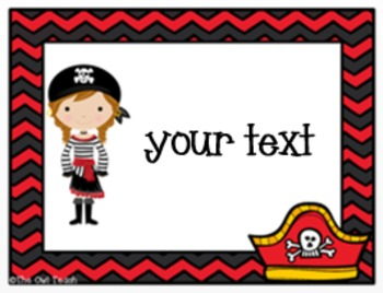 Pirates Classroom Theme - EDITABLE Supply Labels