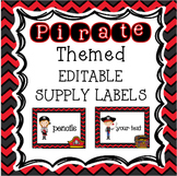 Pirates Classroom Theme - EDITABLE Supply Labels
