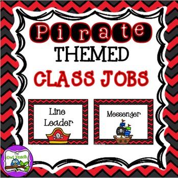 Pirates Classroom - Job Chart EDITABLE