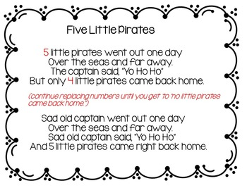 Pirates (2 Pocket Chart Poems and Song)