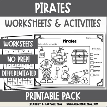 Pirates- Vocabulary Pack