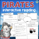 All About PIRATES Reading Comprehension Interactive Book