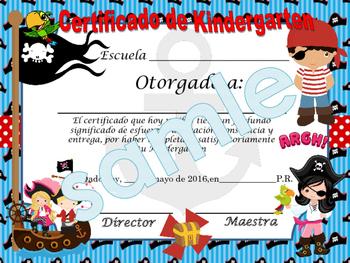 Pirates Achievement award English / Spanish version