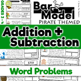 Pirates: Addition and Subtraction Bar Model Word Problems - Grades 3 and 4