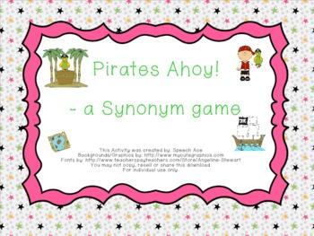 Pirates Ahoy: A Synonym Game!