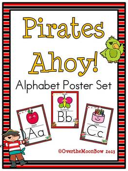 Pirates Ahoy! Alphabet Poster Set