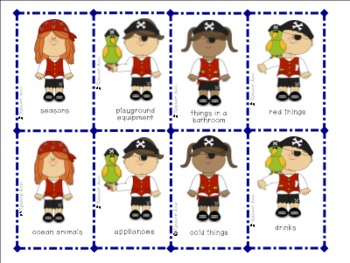 Pirates Ahoy - Categories Game
