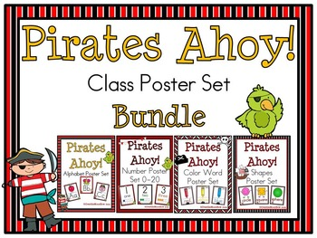 Pirates Ahoy! Classroom Décor Poster Bundle