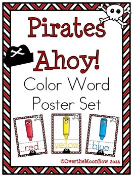 Pirates Ahoy! Color Words Poster Set