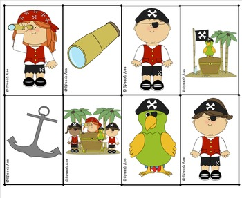 Pirates Ahoy!  Describing Bingo