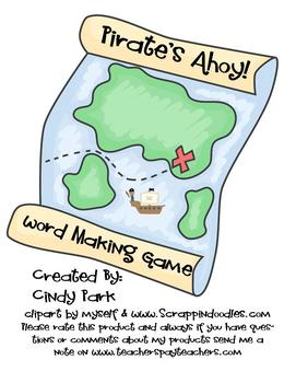 Pirate's Ahoy Making Words Game