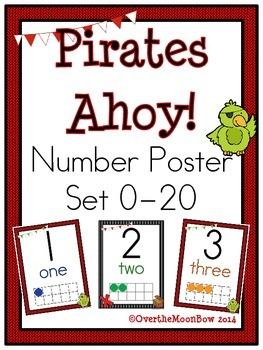 Pirates Ahoy! Number Poster Set
