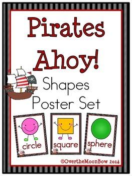 Pirates Ahoy! Shapes Poster Set