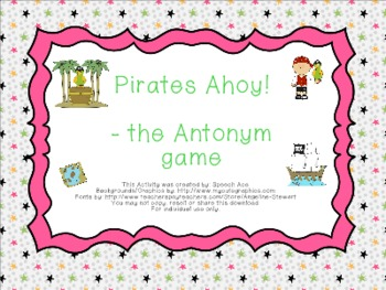 Pirates Ahoy! --- the Antonym Game