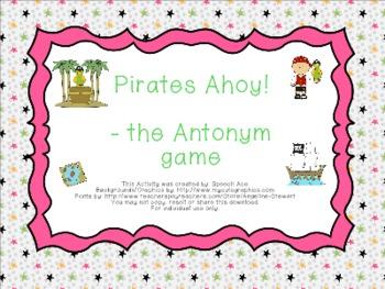 Pirates Ahoy! --- the Antonym Game