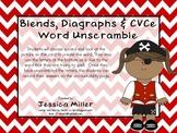 Pirates Blends, Diagraphs & CVCe Word Unscramble