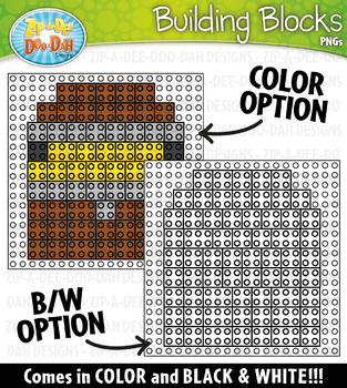 Pirates Building Blocks Clipart {Zip-A-Dee-Doo-Dah Designs}