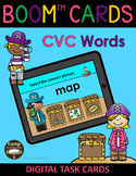 Pirates CVC Words and Pictures BOOM Cards™