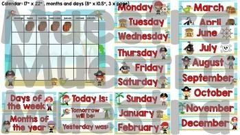 Pirates Calendar Set
