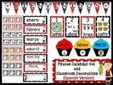 Pirates Calendar Set and Classroom Decorations {Spanish Version}