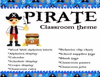 Pirates Classroom Decor