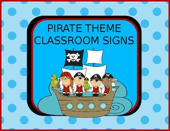Pirates Classroom Theme Signs