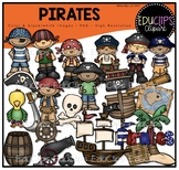 Pirates Clip Art Bundle {Educlips Clipart}