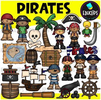 Pirates Clip Art Bundle {Educlips Clipart}