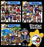 Pirates Clip Art Bundle- Color and B&W- 72 items!