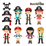 Pirates Clip Art - Great for Art Class Projects!