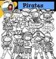 Pirates Clip Art set1- color and B&W