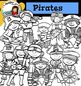 Pirates Clip Art set2- color and B&W