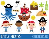 Pirates Clip Art, Treasure Map