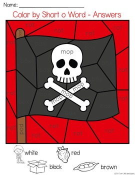 Pirates Color by CVC Word