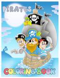 Pirates Coloring Book - Ships, Mermaids, Sea, Caribbean