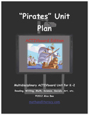 """""""Pirates! Common Core Aligned Math and Literacy Unit - ACTIVboard EDITION"""