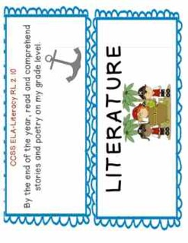2nd Grade Common Core Objectives: I CAN Posters Literacy Part 1: Pirates