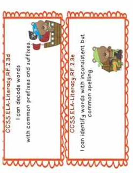 2nd Grade Common Core Objectives: I CAN Literacy Posters Part 2: Pirates