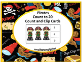 Distance Learning Pirates Math Count Clip Cards PreK, K, Special Ed