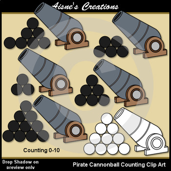 Pirates Counting Clip Art