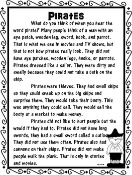 Pirates Differentiated Reading and Writing