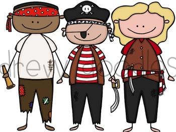 Pirates Digital Clip Art Set