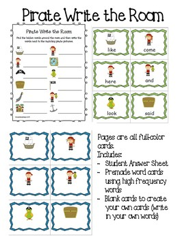 Pirates Emergent Reader and Center Games Bundle