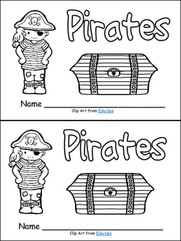 Pirates Emergent Reader for Kindergarten- Level A