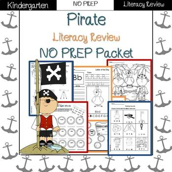 Pirates End of Year/Summer Review: Kindergarten NO PREP (Literacy)