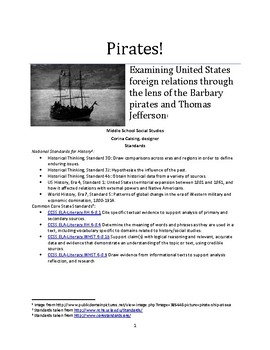 Pirates! Examining US foreign relations, Barbary pirates, and Thomas Jefferson